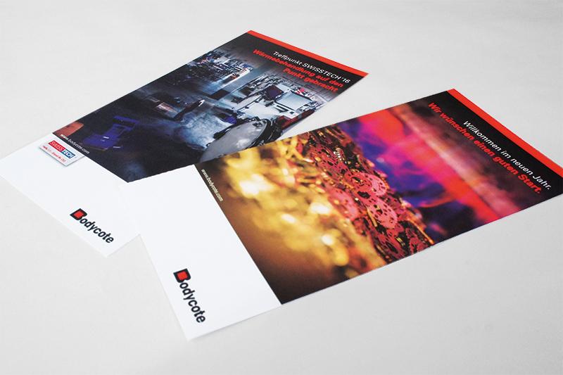 Design und Text Flyer Bodycote