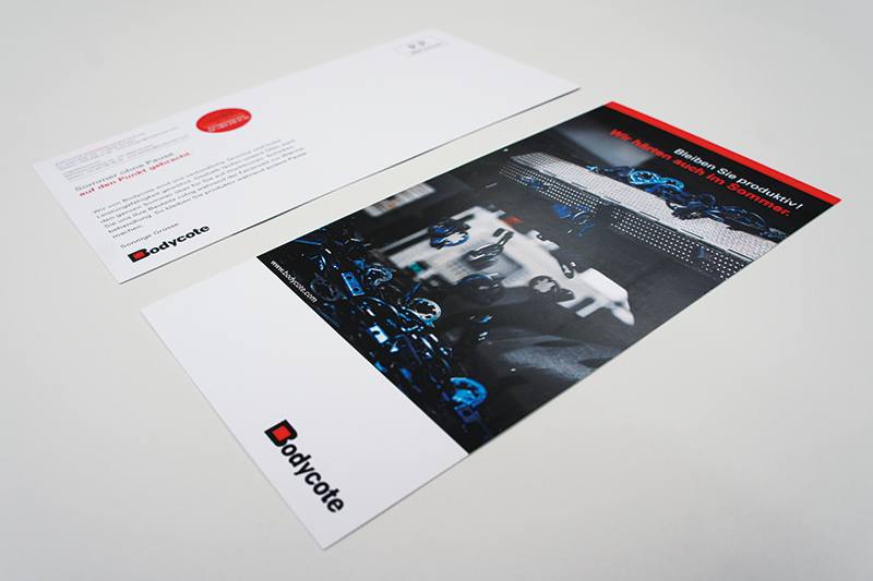 Gestaltung Postkarte