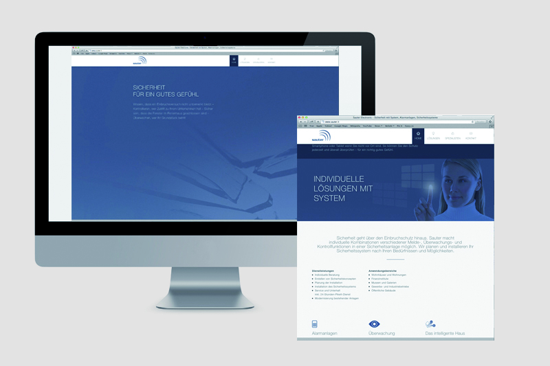 website referenz sauter