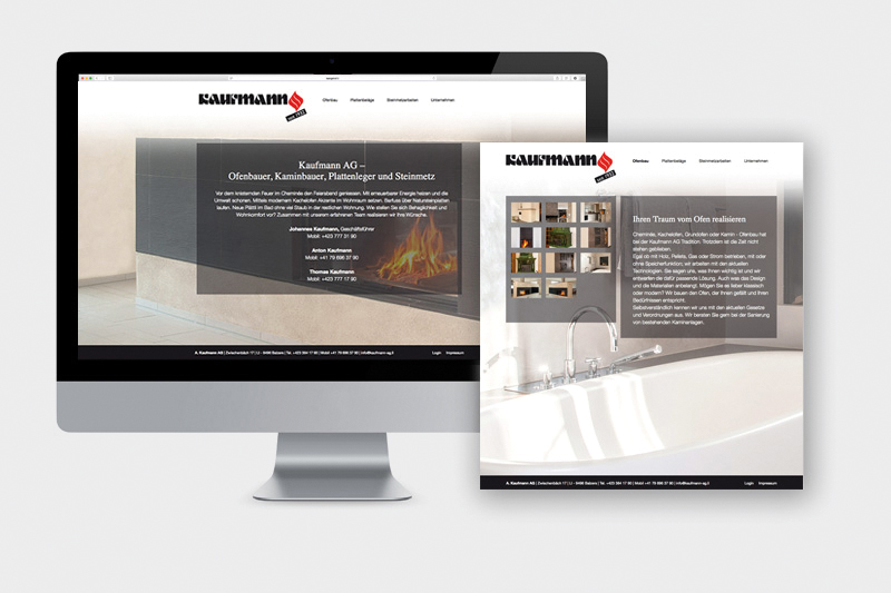 Referenz Website Kaufmann AG