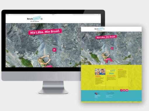 Konzept und Corporate Design BerufsCheck.li