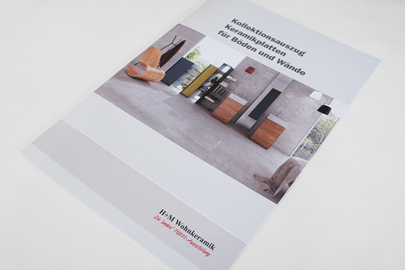 Grafikdesign Faltbroschüre Titelseite