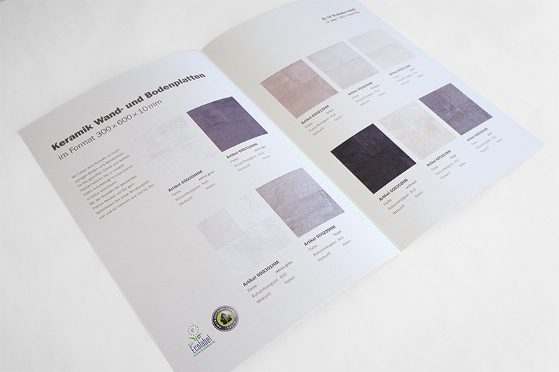 Grafikdesign Faltbroschüre Innenseiten