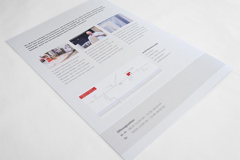 Grafikdesign Faltbroschüre Rückseite