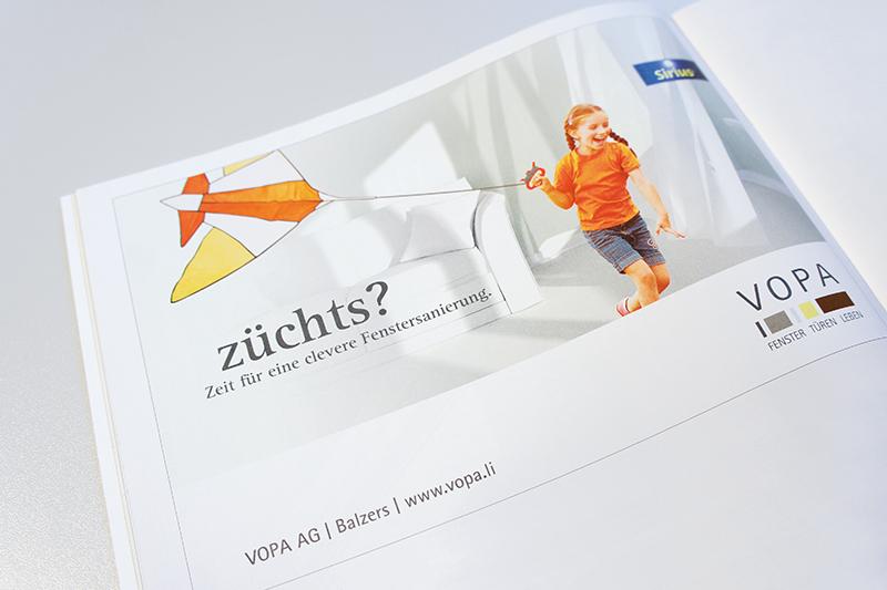 Inserat Werbekampagne VOPA