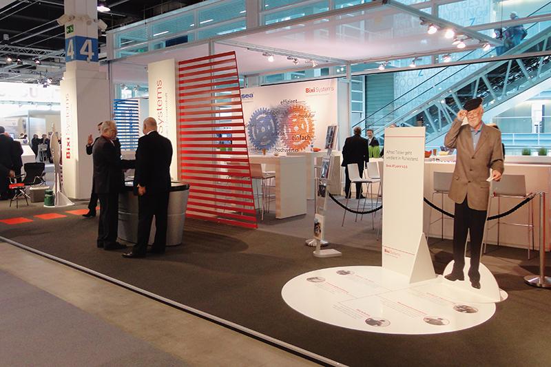 Messestand Bixi Systems an der Sicherheit 2015, Konzept und Design von GERRYFRICK