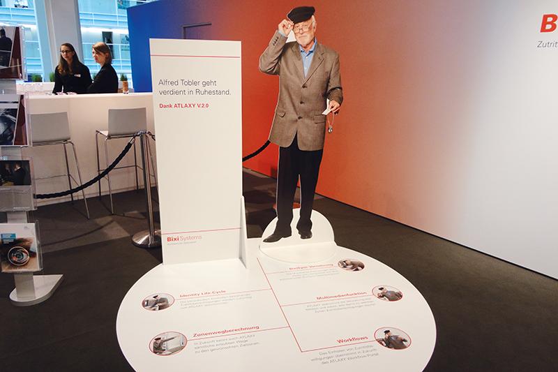 Messestand Kampagne Alfred Tobler, Konzept und Design von GERRYFRICK