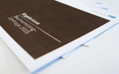 Ergebnisse Baumarketing-Umfrage als Broschüre
