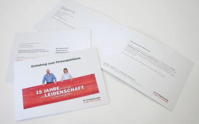 Einladungskarte für Firmenjubiläum
