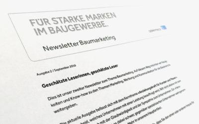 Baumarketing-Newsletter 2/2016