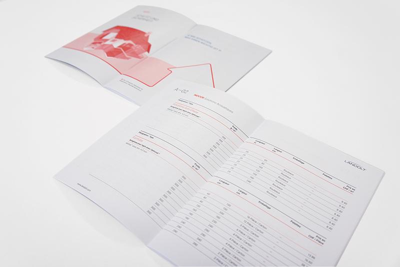 Grafikdesign Gestaltung Innenseiten Preisbuch Landolt