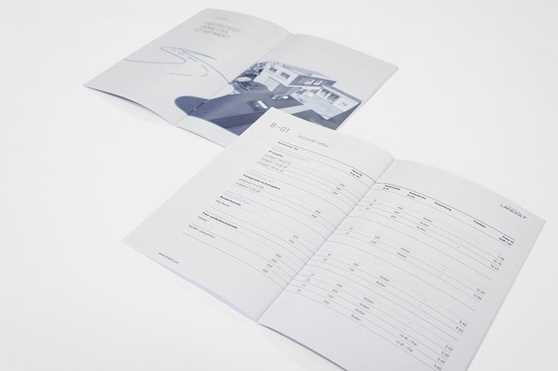 Grafikdesign Preisliste Innenseite