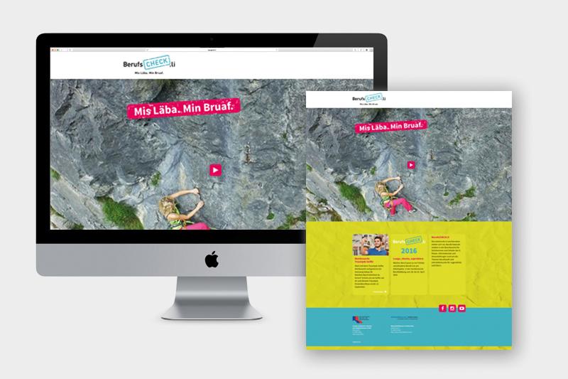 Konzept, Design und Text Website