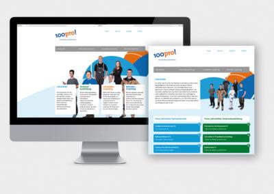 Redesign Website und Corporate Design 100pro!