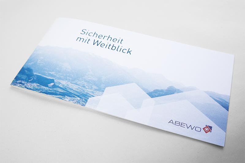 Broschüre Abewo Konzept und Grafikdesign von GERRYFRICK