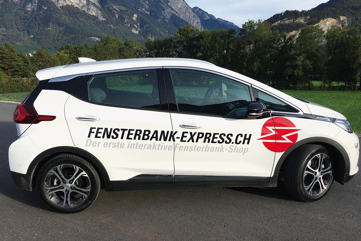 Autobeschriftung Fensterbank-Express