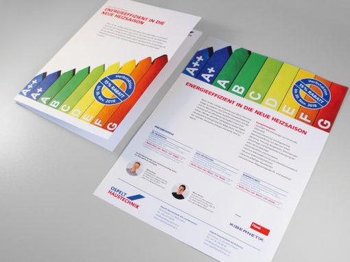 Werbekampagne Herbstaktion für Ospelt Haustechnik