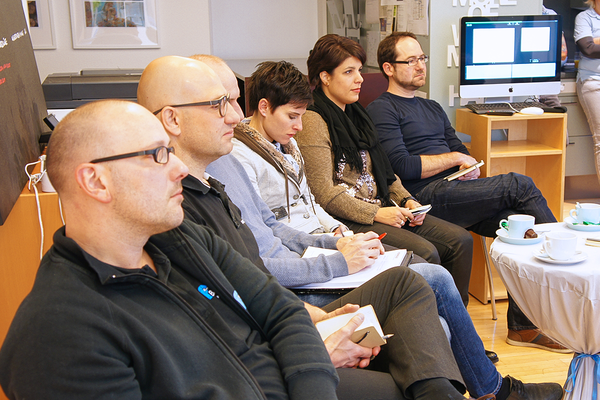 Videomarketing für Unternehmen. Zuschauer am Handwerker-Zmorga von GERRYFRICK zum Thema.