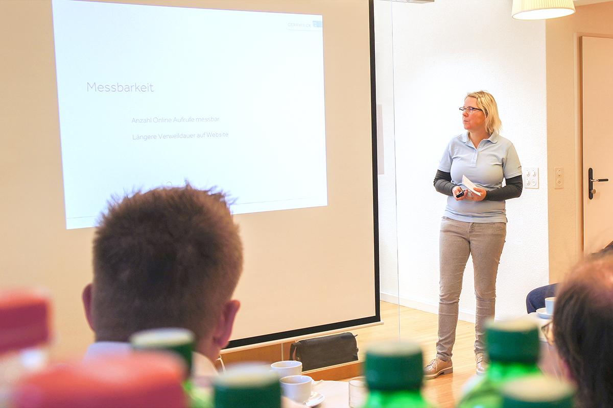 Planung und Konzept von Filmprojekten, Präsentation von Sylvia Frick am Handwerker-Zmorga