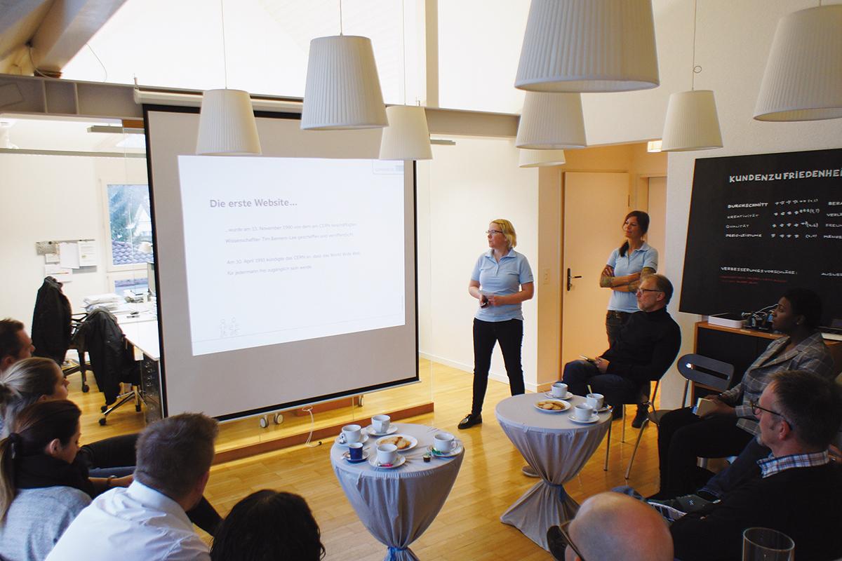 Webtrends 2019 präsentiert vom GERRYFRICK Team am Handwerkerzmorga