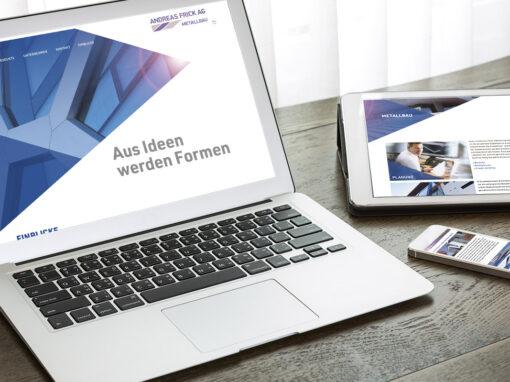 Webkonzept und Webdesign für Metallbaubetrieb