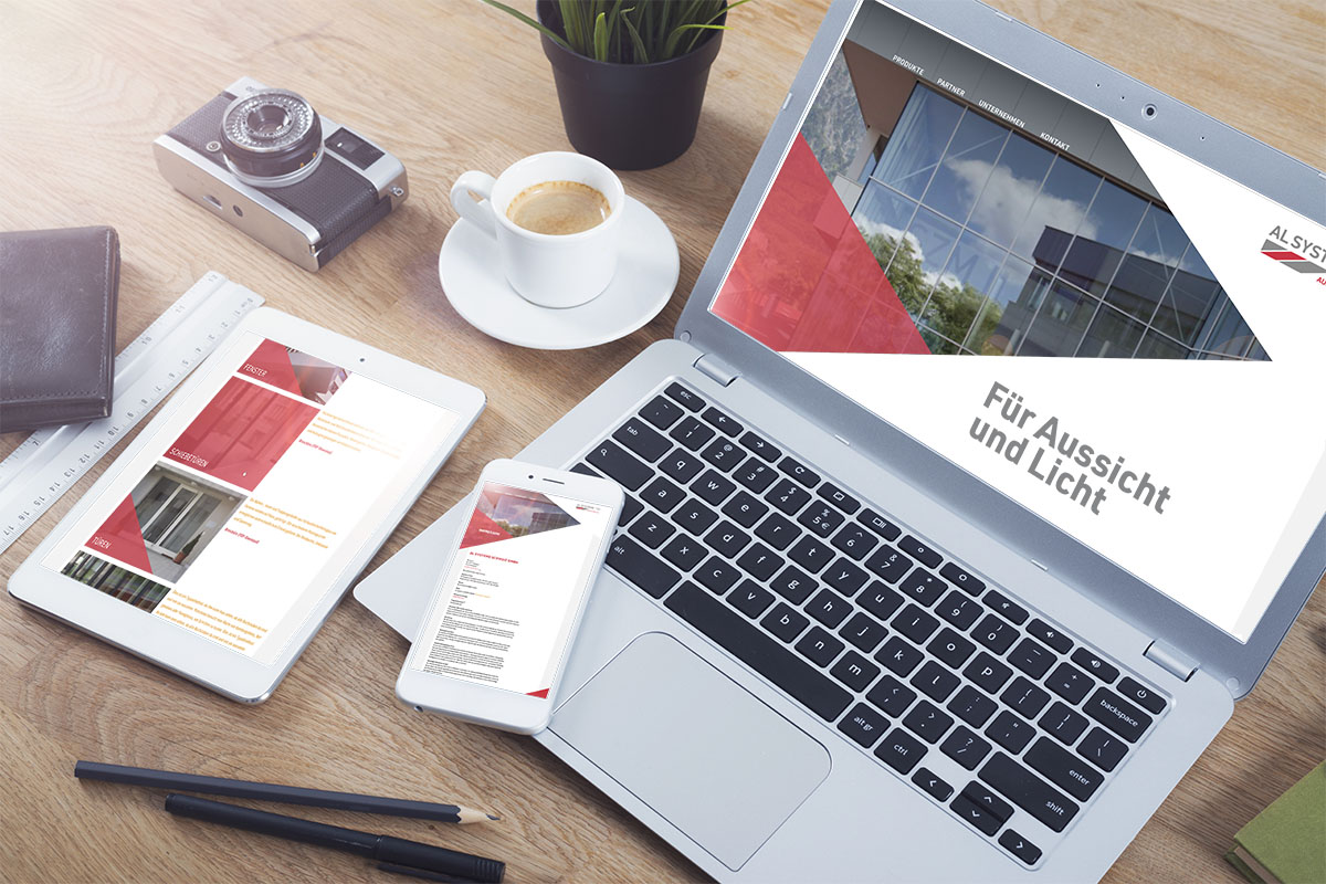 Webauftritt für neues Unternehmen, Konzept, Design und Text von GERRYFRICK