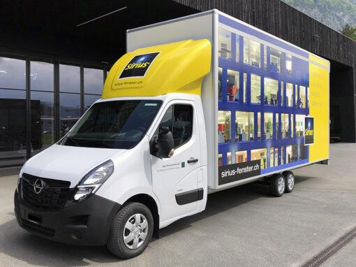 Fahrzeugbeschriftung für Fenstertransporter