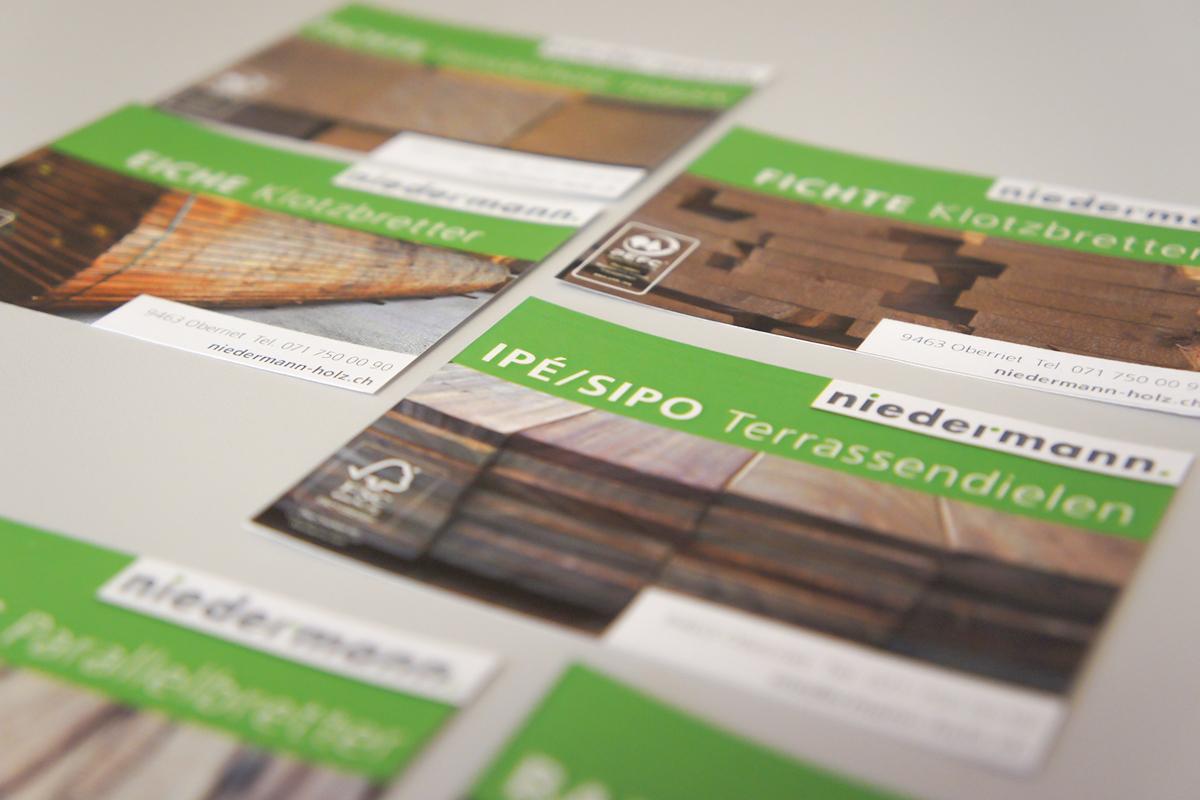 Positionierung, Marketingkonzept und Marketingmassnahmen für Holzhandel von der Werbeagentur GERRYFRICK Est. in Balzers