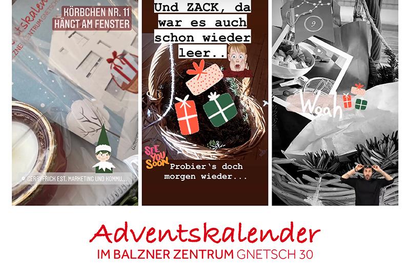 1. Adventskalender im Balzner Zentrum bei der Werbeagentur GERRYFRICK Est.