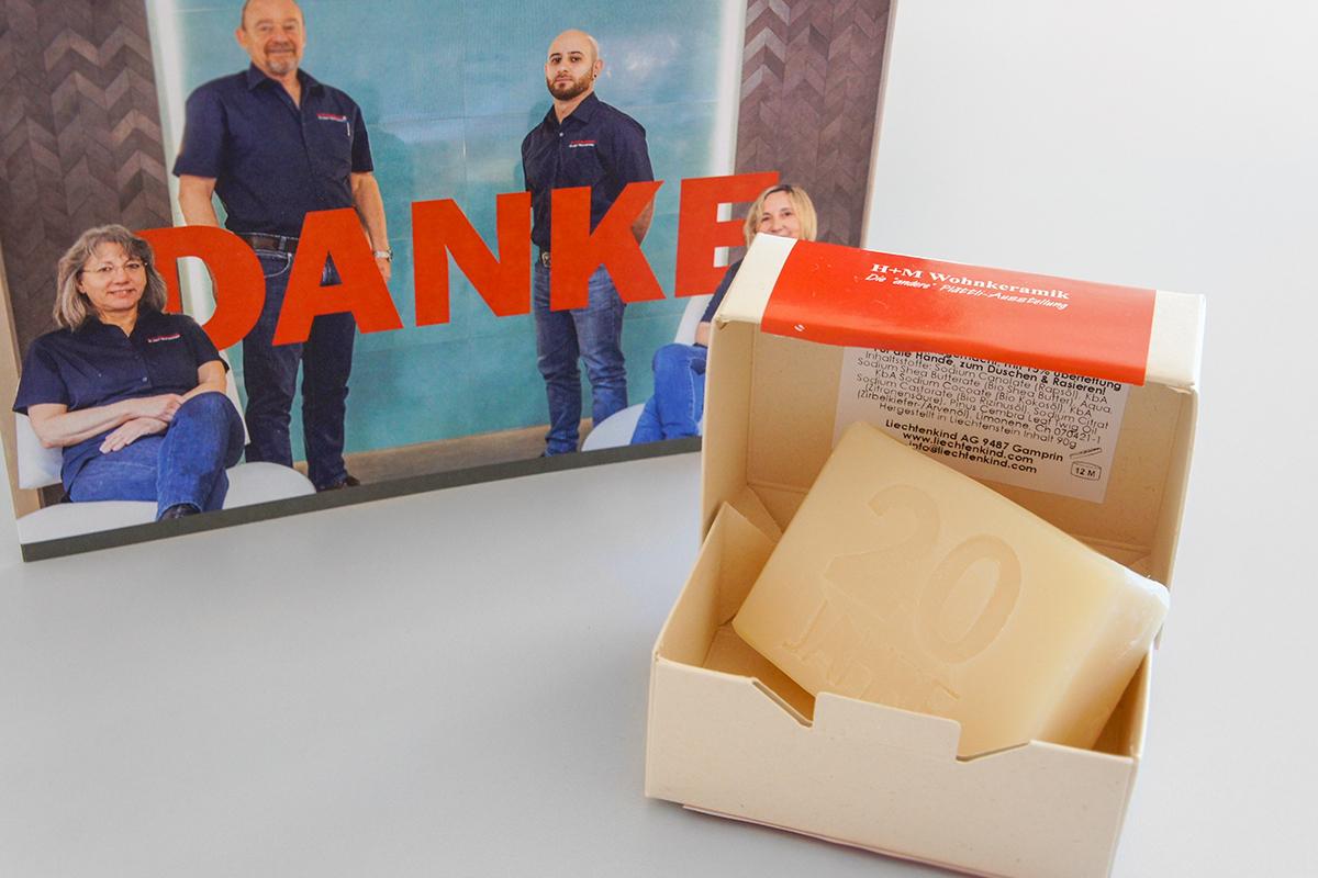 Danke für die Zusammenarbeit H+M Wohnkeramik | GERRYFRICK Werbeagentur aus Balzers