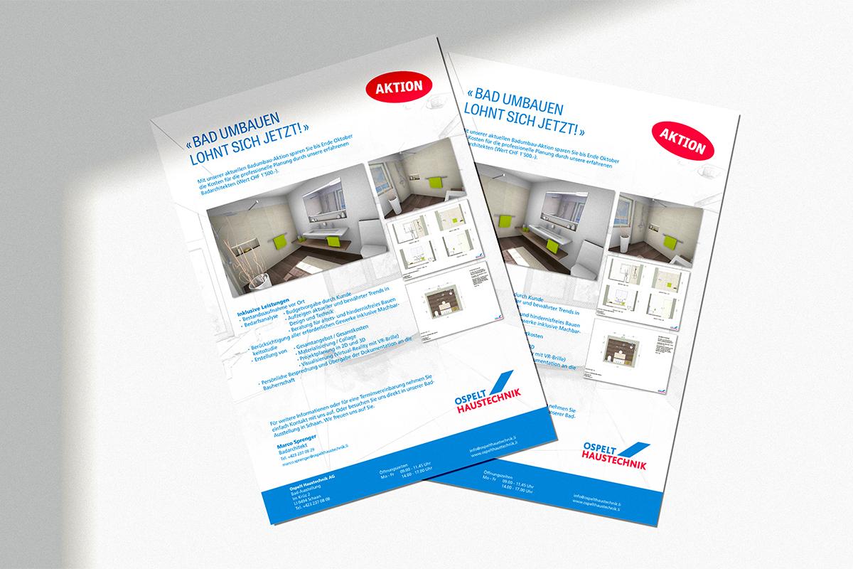 Authentische Werbekampagne für ein lokales Haustechnikunternehmens. Konzept und Design von der GERRYFRICK Markenagentur für starke Marken.